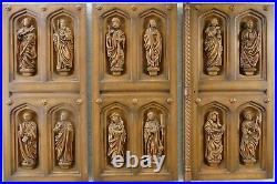 12 figures of the apostles finely carved from oak around 1960