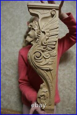 17 Lion Corbel, Wooden Corbel, Rustic Corbel, Fireplace Surround, lion art