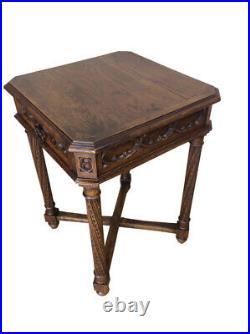 19th Century Antique French Gothic Occasional Table, Oak