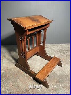 19th Century Gothic Oak Church Lectern Prayer Kneeling Stand