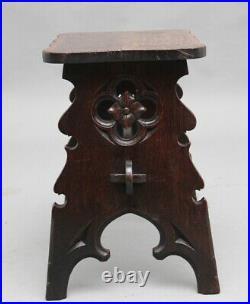 19th Century Gothic revival oak stool