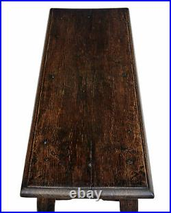 19th Century Long Oak Joint Stool
