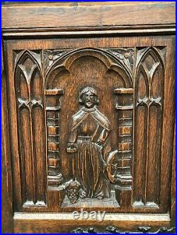 19th Century Medieval French Gothic Bookcase, Oak, 1900's