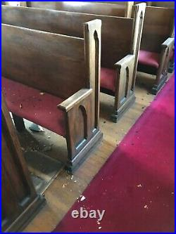20 Available Price Separate Antique Oak Gothic Church Pews 82 Or shorter