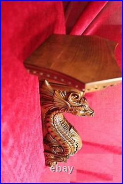 21 Large Wooden wall shelf/Corbel/bracket Dragon. Carved from alder wood