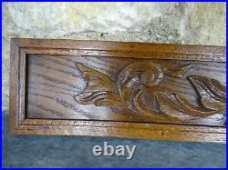 24. Antique French Hand Carved Pediment Wood Solid Oak Wood Gothique