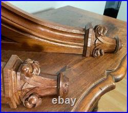 24 XLarge French Antique Gothic Oak Wood Brackets/Trim/Corbels