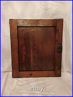 28 Antique French Gothic Architectural Panel Door Oak Wood Carved Salvage