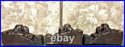 3 Lion wood carving corbel bracket Antique french 17th architectural salvage