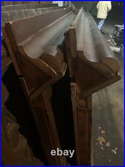 4 panels 11.5 Antique Gothic Revival Solid Oak