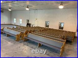 75 Year Old Oak Gothic 12-2 Church Pews