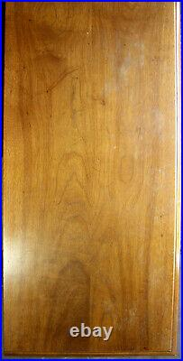 78W Vintage Antique Drexel Gothic Oak Wood Wooden Triple Dresser Chest Armoire