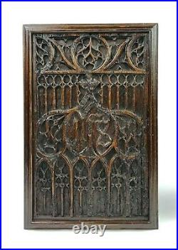 A Pair Of 16th Century Gothic Oak Panels