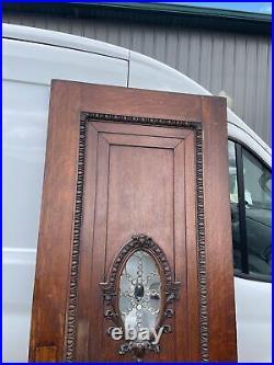 An659 gorgeous Antique Quartersawn Oak Gothic Church door 31.75 x 84 x 2.25
