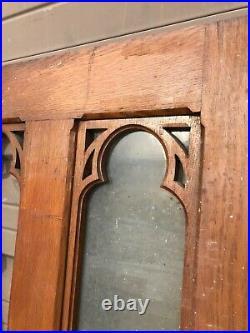 An Pair Antique Oak Gothic Double door 52 x 73.5 x 1.25