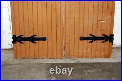 Antique 1910s Gothic Oak Double Entry Doors, Architectural Salvage, Vintage