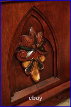 Antique 19th Century Gothic Oak & Iron Lectern