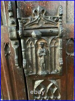 Antique Bar Hutch Oak Belgium Hand Carved VERY RARE