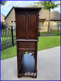Antique French Cabinet Vestry Wine Sacristy Cabinet St George Dragon Oak GOTHIC