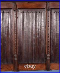 Antique French Gothic Revival Panel in Oak Wood Salvage