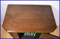 Antique French Gothic Revival Side/End Table/Console/Stand in Oak