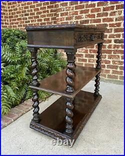 Antique French Sideboard Dessert Server Barley Twist Gothic Renaissance Bookcase