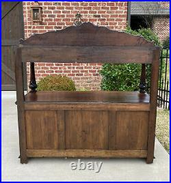 Antique French Sideboard Server Black Forest Gothic Hunt Cabinets 19C Bookcase