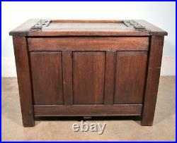 Antique Gothic French Solid Oak Chest/Trunk/Cabinet Highly Carved