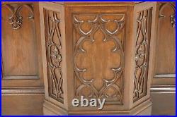 Antique Gothic Revival Carved Oak Pulpit, Bar, Scotland 1890, B2056