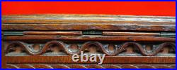 Antique Gothic Revival Intricately Hand-Carved Oak Mystery Puzzle Box / Casket