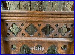 Antique Quartersawn Oak Church Altar Pew Railing Gothic Salvage Prayer Kneeling