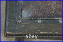 Antique Victorian Gothic Oak Coal Purdonium Scuttle Bin Box Tin Liner Bench Seat