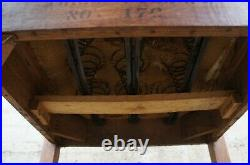 Antique Victorian Quartersawn Oak Gothic Revival Bishops Throne Arm Chair 59