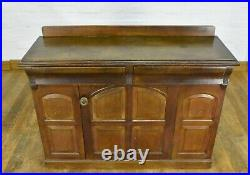 Antique carved Church Gothic chiffonier cabinet sideboard side cupboard