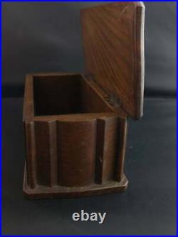 Antique gothic oak box, collection box