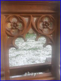 Antique very rare 19th Century Gothic Oak Church Lectern Prayer Kneeling Stand
