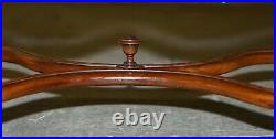 Circa 1900 English Oak William & Mary Style Long Two Person Footstool Bench Seat
