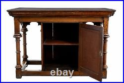 Early 20th Century Carved Oak Alter Table In The Gothic Taste