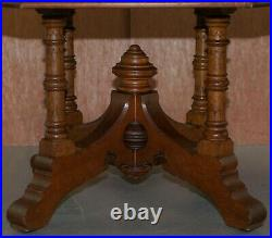 English Circa 1850 Gothic Revival English Oak Octagonal Occasional Library Table