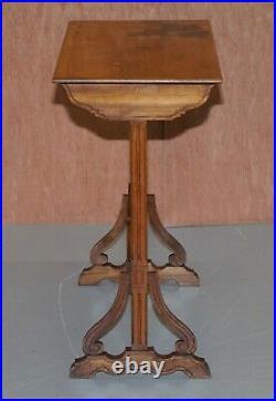Extremely Rare Nest Of Four Emile Galle Specimen Wood Tables Art Nouveau 4