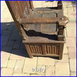 Fine Gothic Bishop's Throne Chair