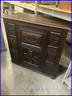 French Antique Carved Buffet Sideboard