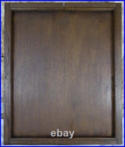 French Antique Deep Carved oAK Wood Panel/Door Medieval Soldier
