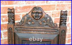 French Antique Gothic Dark Oak Arm Chairs