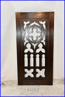 French Gothic Architectural Fretwork Panel, 19th Century, Oak