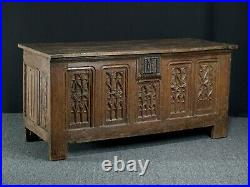 French Gothic oak chest, early 16th century