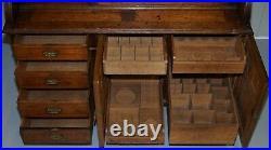 Gillows Of Lancaster Victorian Oak Gentleman's Drinks Cabinet Cupboard Work Desk