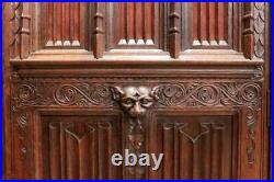 Gorgeous Antique French Gothic Armoire, Cabinet 19th Century, Oak