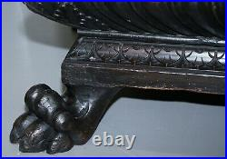 Gothic Revival 1840 Carved Wood Huge Wine Cooler Planter Lion Hairy Paw Feet