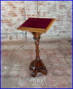 Gothic Revival -Vintage carved Oak Reading Church Pedestal